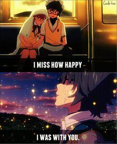 I miss those days T_T Anime:Ano natsu de matteru