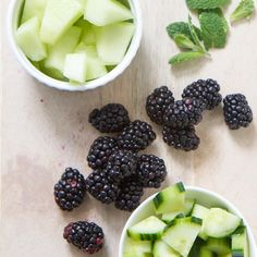 Blackberry + Cucumber + Melon Toddler Finger Salad is a perfect salad for this Spring! Also great for BLW babies! Healthy Finger Foods, Healthy Baby Food, Baby Finger Foods, Healthy Snacks, Baby Food Recipes, Toddler Recipes, Cucumber Baby Food Recipe, Baby Eating, Toddler Snacks