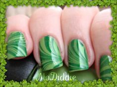 ▶ ST PATRICKS DAY GREEN WATER MARBLE TUTORIAL - YouTube