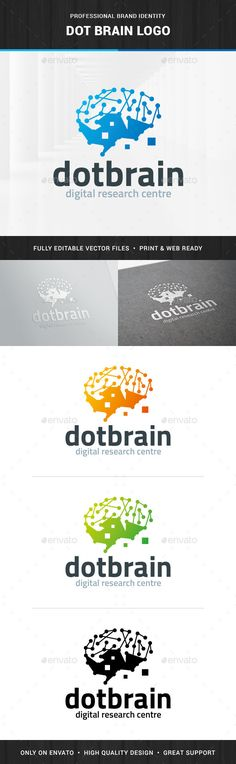 Dot Brain Logo Template — Photoshop PSD #PSD logo #database • Available here → https://graphicriver.net/item/dot-brain-logo-template/13950250?ref=pxcr