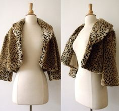 Hey, I found this really awesome Etsy listing at https://www.etsy.com/listing/459311696/vintage-faux-fur-leopard-bolero-jacket