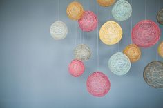 Stellar Backdrop - This is something that I could easily make with colored twine and balloons.