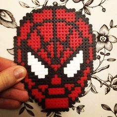 Spiderman perler beads by ekkese