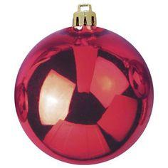 Europalms Deko 83501270 Dekokugel 20 cm, rot Dekokugel für Innen- und Außendekoration ¨ Als Garten- und Weihnachtsdeko geeignet