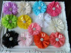 Ballerina Shabby Chiffon flowers With Bling,DIY,Embellishments,Headbands ect au.picclick.com $1.80