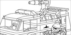 lego fire truck coloring page