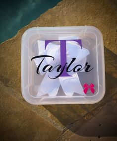 Cheer / Hair Bow Travel Case Personalized by CleverlyCreatedDsgns Cheer Sister Gifts, Cheer Team Gifts, Cheer Camp, Cheer Coaches, Cheer Party, Cheer Banquet, Cheer Hair Bows, Cheerleading Gifts, Cheerleading Stunting