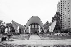"Restaurant ""Seerose"" Potsdam Germany built between 1980-83 Architect: Dieter Ahting with Ulrich Müther (c) BACU #socialistmodernism by socialistmodernism"