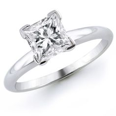 Princess Cut Solitaire Diamond Engagement Ring Click here to shop beautiful diamond rings and jewelries: http://trkur1.com/203492/19175