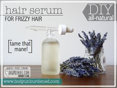 DIY All-Natural Hair Serum For Frizzy Hair 2 oz castor oil 10 drops rosemary essential oil (optional) 10 drops lavender essential oil (optional but highly recommended) Small glass jar Source by Beauty Diy Shampoo, Organic Shampoo, Natural Beauty Tips, Natural Hair Styles, Natural Hair Serum, Diy Hair Serum For Frizzy Hair, Dry Hair, Beauty Care, Beauty Hacks