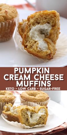 These pumpkin cream cheese muffins make the perfect keto breakfast or snack! This popular low carb pumpkin muffins recip. These pumpkin cream cheese muffins make the perfect keto breakfast or snack! This popular low carb pumpkin muffins recip. Pumpkin Cream Cheese Muffins, Pumpkin Cream Cheeses, Cheese Pancakes, Cheese Pumpkin, Desserts Keto, Dessert Recipes, Holiday Desserts, Low Sugar Desserts, Vegetarian Desserts
