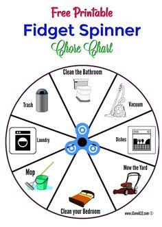 Free Printable Fidget Spinner Chore Chart! via @isavea2z