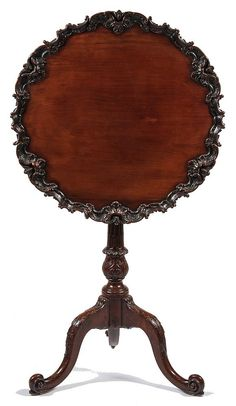 instant 'tea' luxe in the bedroom, parlor, garden room, terrace & or etc...; Outstanding Small Mahogany Tilt-Top Tea Table... Thomas Chippendale, English, third quarter 18th c.
