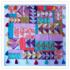 Love, love love this darling baby quilt! flying.gosling.quilt by annamariahorner, via Flickr