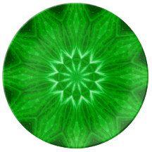 Spiritual Earth Energy Mandala Ritual Plate Porcelain Plates