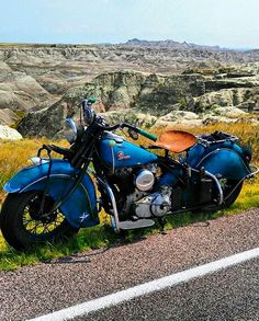 '45 Indian Chief at the Badlands.