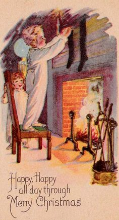 Happy, happy all day through! #vintage #Christmas