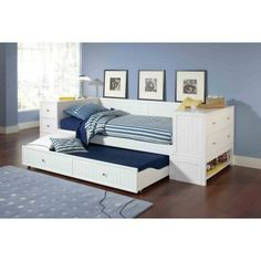 Do you have a daybed in your home? You may have to change your old daybed into the latest concept. This daybed is made with trundle concept. Trundle Bed With Storage, Daybed With Trundle, Bed Storage, Storage Drawers, Extra Storage, Full Daybed, Storage Headboard, Full Size Bed Mattress, White Daybed
