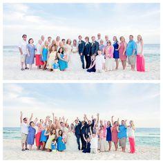 destin wedding group shot