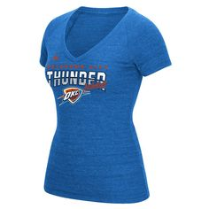 Women's Adidas Oklahoma City Thunder Horizon Lines Tee, Size: Medium, Blue