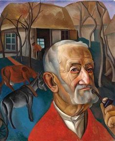 A Man with a Pipe - Boris Grigoriev