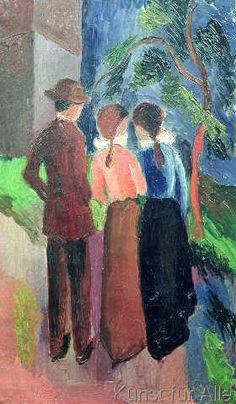 August Macke - The Walk, 1914