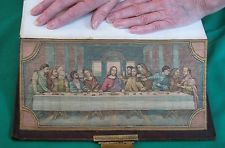 FORE-EDGE PAINTING - RARE!! HOLY BIBLE 1881 Gigantic Tooled Leather Ancient Maps Tooled Leather, Leather Tooling, Painted Books, Painting Edges, Baby Items, Frost, Maps, Books To Read, Bible