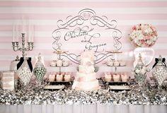 #pink #grey # wedding table