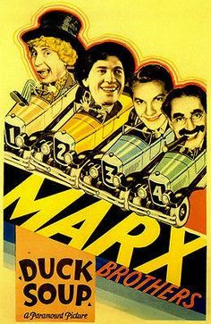 Duck Soup - The Marx Brothers - 1933 - Movie Poster