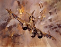Low Level Attack, by Michael Turner (Bristol Blenheim Mk V)