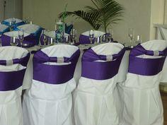 Sanojah's Bespoke Linen Peau de Soie Purple Sashes Chair Ties, Sash, Bespoke, Bliss, Table Decorations, Purple, Home Decor, Taylormade, Decoration Home