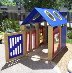 This is an educational playhouse at the Center for Visually Impaired in GA