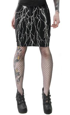 I would think this would be easy to do, with a cute black skirt and fabric paint to create the lightning.