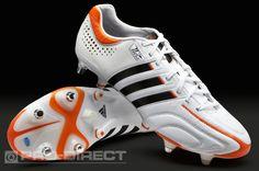 adidas Football Boots - adidas adipure 11Pro XTRX SG MiCoach - Soft Ground - Soccer Cleats - White-Black-High Energy
