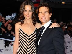 Tom Cruise and Katie Holmes.Cruise says Scientology is to blame for split The actor and Katie Holmes divorced in 2012, but a new deposition reveals that Holmes was scared off by Cruise's involvement with the Church of Scientology...