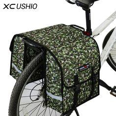 35*32*14 CM de Gran Tamaño de Contenedor de Doble Cara de La Bicicleta Estante Posterior De la Bici de Equipaje de Equipaje Bolsas de Viaje A Prueba de agua contenedor Bolsa Alforjas