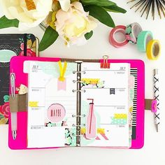#ShareIG This week's layout in my #fluropinkfilofax I can decorate these planners all day if I could. #planner #plannergirl #plannerlife #plannerlove #plannernerd #planneraddict #plannerjunkie #plannersupplies #plannercommunity #plannerdecorating #plannersgonnaplan #filofax #filofaxlove #filofaxfluropink #kikkik #kikkiklove