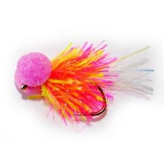 White minky booby, minky booby trout flies, minky lures, fry lures ...