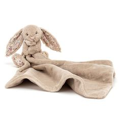 """Jellycat Blossom Bea Beige Bunny Soother 13"""" Baby Shower Gifts, Baby Gifts, Jellycat, Bunny Plush, Animal Wallpaper, Soft Blankets, Cute Gifts, Cuddling, Dinosaur Stuffed Animal"""