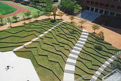 日本九州产业大学景观设计外部局-日本九州产业大学景观设计第6张图片