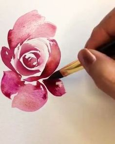 Likes, 59 Comments - Watercolor Drawings (Abbey Bris .- Likes, 59 Kommentare – Aquarellzeichnungen (Abbey Briscoe. Likes, 59 Comments – Watercolor Drawings (Abbey Briscoe. Watercolor Drawing, Watercolor Rose, Watercolor Illustration, Painting & Drawing, Watercolor Paintings, Watercolors, Watercolor Video, Watercolour Tutorials, Motif Floral