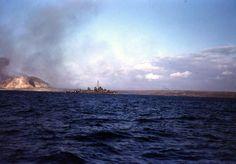 A Fletcher-class destroyer off Iwo Jima, circa 19 Feb 1945