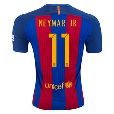 FC Barcelona 16/17 NEYMAR JR Authentic Home Soccer Jersey   | $185.45 | Holiday Gift & Stocking Stuffer ideas for the FC Barcelona fan at WorldSoccerShop.com