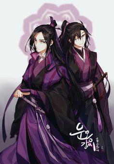 Jiang Cheng and Wei Wuxian Anime Guys, Manga Anime, Anime Art, Fan Fiction, Fan Art, Pen & Paper, Chinese Cartoon, China Art, The Grandmaster