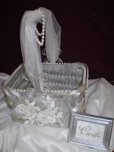 Wedding Card  HolderCBasket by HighlandCottageArts on Etsy, $42.00