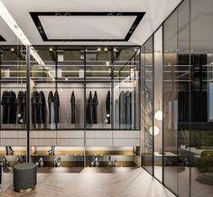 Best Wardrobe Designs, Wardrobe Design Bedroom, Closet Designs, Closet Bedroom, Bedroom Decor, Restaurant Exterior Design, Luxury Closet, Wardrobe Doors, Luxurious Bedrooms