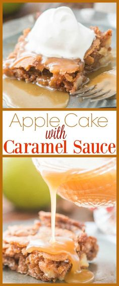 Today we go back in time and share everyone's favorite Apple Cake with Caramel Sauce. You see, it's the classics that really make you feel happy. via @ohsweetbasil