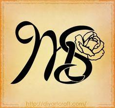 #monogram MS #rose #tattoo