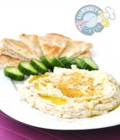 White Bean Hummus... so easy and so delish. Use white navy beans or chickpeas.