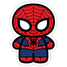 Not nearly enough of this 'kawaii' treatment of Spider-Man out there. Spiderman Bebe, Chibi Spiderman, Chibi Marvel, Marvel Dc Comics, Marvel Avengers, Spiderman Stickers, Marvel Cartoons, Baby Superhero, Superhero Cartoon